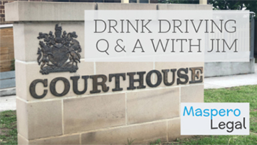 Drink Driving Q&A with Jim Maspero Solicitor