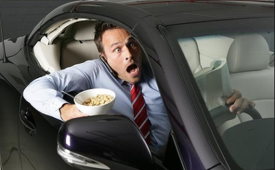 Can I eat whilst driving?