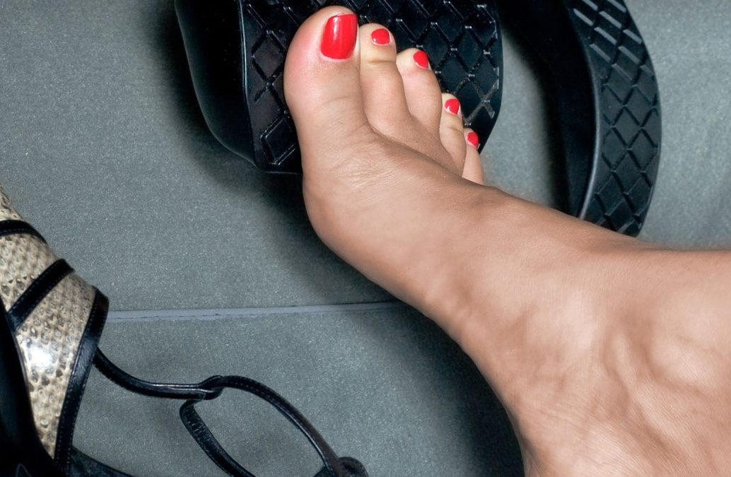 Can I drive barefoot?