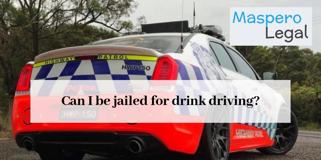 Can I be jailed for drink driving?
